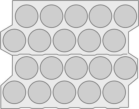 Двухрядная шахматка с использованием первичного и вторичного скролл листа